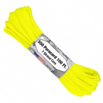US GSA Compliant 550 Paracord - Safety (Neon) Yellow